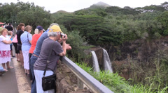 Wailua twin falls Stock Footage