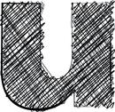 Stock Illustration of hand draw font. letter u