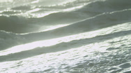 Stock Video Footage of Clean Gentle Saltwater Ocean Waves Washing Ashore