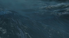 Tornado Dramatic Ocean Seascape high quality rendering Stock Footage
