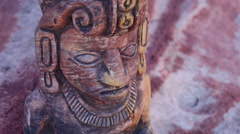 Mayan Serpent Statue Close Up with Tilt Down Stock Footage