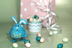 Blue Easter Bunny Stock Photos