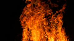 Fire flames burning Stock Footage