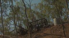 Parts Of A Deserted Old Goldmine Stock Footage