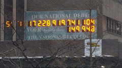Stock Video Footage of US National Debt Clock 720p 3979
