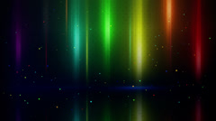 Colorful light stripes and reflection loopable background Stock Footage