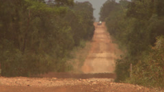 Long Gravel Road Stock Footage