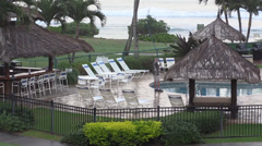 Resort pool maintenance Stock Footage