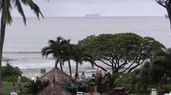 Hawaiian party, tiki torches Stock Footage
