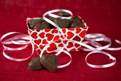 Valentine Chocolate Heart Stock Photos