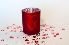 Valentine Candle Stock Photos