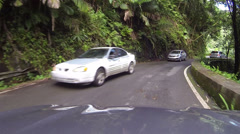 El Yunque Rainforest driving POV fast timelapse HD 0242 Stock Footage