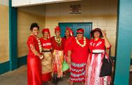 Stock Photo of people celebrate arriving fuifui moimoi on vavau island, tonga
