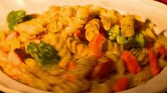 Pasta overhead turn fast Stock Footage