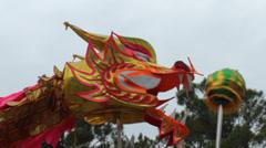 Dragon dance at folk festivals Stock Footage