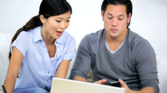 Asian Chinese Couple Needing Financial Solutions - stock footage