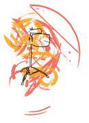 abstract drum illustration - stock illustration