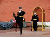Stock Photo of changing of the honor guard ceremony, tomb of the unknown soldier, moscow, ru