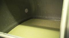 Buttermilk in a big tank Stock Footage