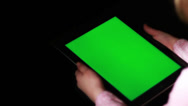 Stock Video Footage of Child with Tablet Device, Green Screen