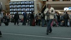 Orlando Airport security departure HD BM 1135 Stock Footage