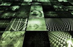 Stock Illustration of digital multimedia