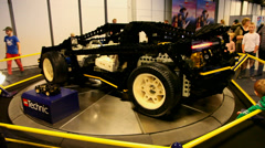 Real car built from Lego Stock Footage