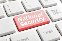 National security on keyboard Stock Illustration