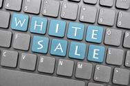 Stock Illustration of white sale on keyboard
