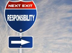 Responsibility road sign Stock Illustration
