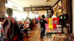 Malioboro: Clothes Shopping Centre in Yogyakarta Stock Footage