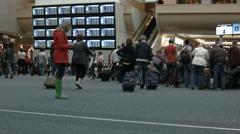 Orlando Airport security screen departure HD BM 1135 Stock Footage