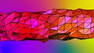 Stock Video Footage of Geometric rainbow polygon