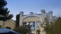 Architectural building is in Yalta Stock Footage