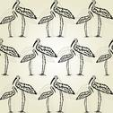 Stock Illustration of elegant seamless pattern with decorative storks for your design