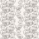 Stock Illustration of elegant seamless pattern with hand drawn decorative tulips for your design