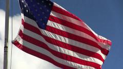 American Flag Waving In Breeze Stock Footage