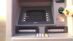 Cashpoint/ATM Stock Footage