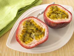 Fresh passion fruit - stock photo