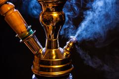 Water pipe with smoke Stock Photos