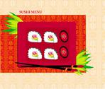 Stock Illustration of template design of asian menu