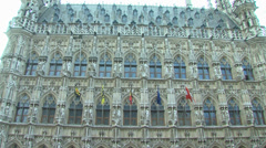 Leuven town hall Stock Footage