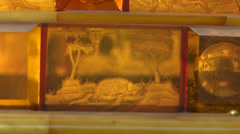 Saint-Petersburg. Amber House Gallery. Casket. Stock Footage