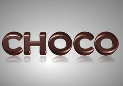 Word choco - stock illustration