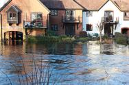 Stock Photo of Housing submerged in UK flood