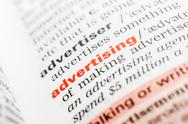 Stock Photo of Advertising Word Definition