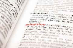 Adoption Word Definition Stock Photos