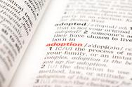 Stock Photo of Adoption Word Definition