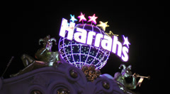 Harrahs hotel and casino on CIRCA 2014 in Las Vegas. Stock Footage