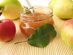 Jam with quince and apple Stock Photos